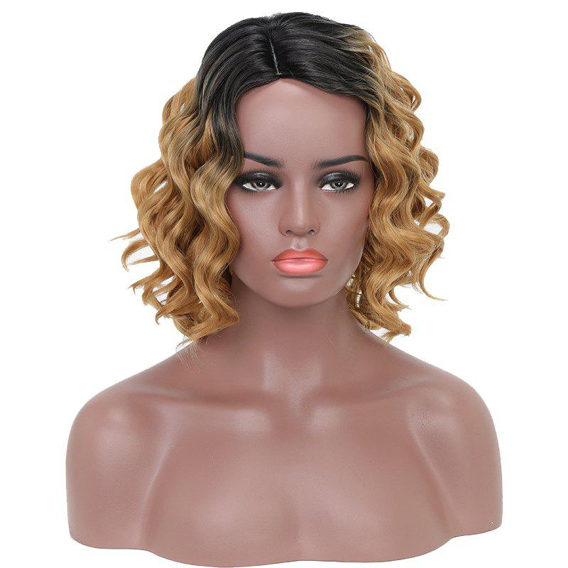 Hot Fashion Style Red Short Curly High Temperature Synthetic Hair Wig with Skin
