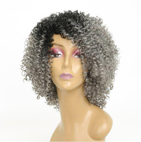Unique Afro Kinky Curly Hair Ombre Fluffy Short Synthetic Wigs for Girls