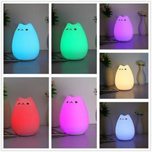 Colorful Silicone Animal USB Desktop Lamp Night Light Bedroom Decoration -
