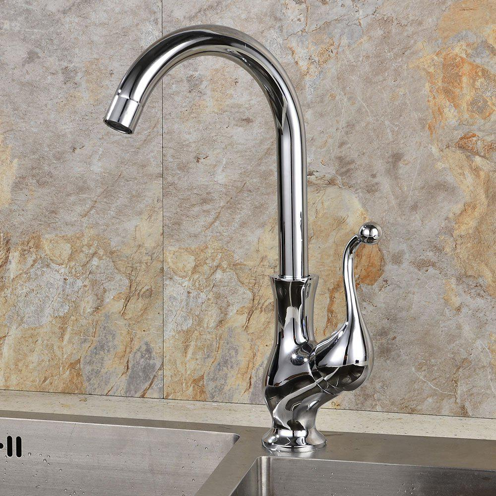 Affordable Water-drop Single Hole Brass Kitchen Faucet