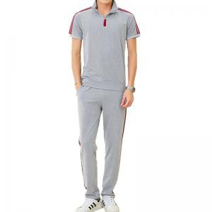 Men's Sports Suit Short Sleeves T-Shirt Pants Two Pieces Activewear -