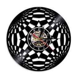 Vinyl Wall Clock Art Present -