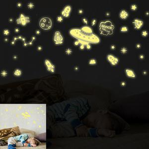Children's Room Wall Sticker Spacecraft Combination Pattern of DIY Paste -
