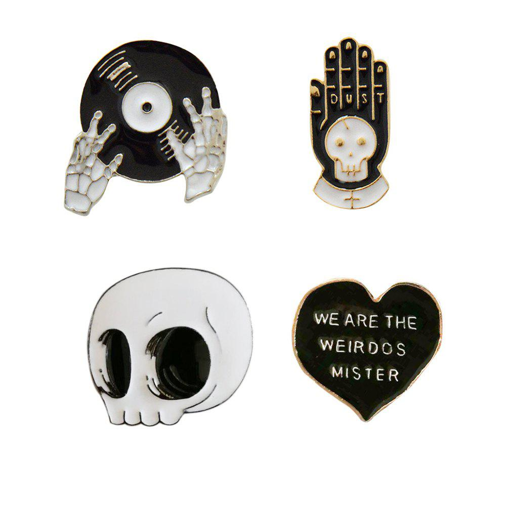 4 pcs Émail Broches Punk Broche Lapel Broche Bouton Badges Bijoux Cool Cadeaux