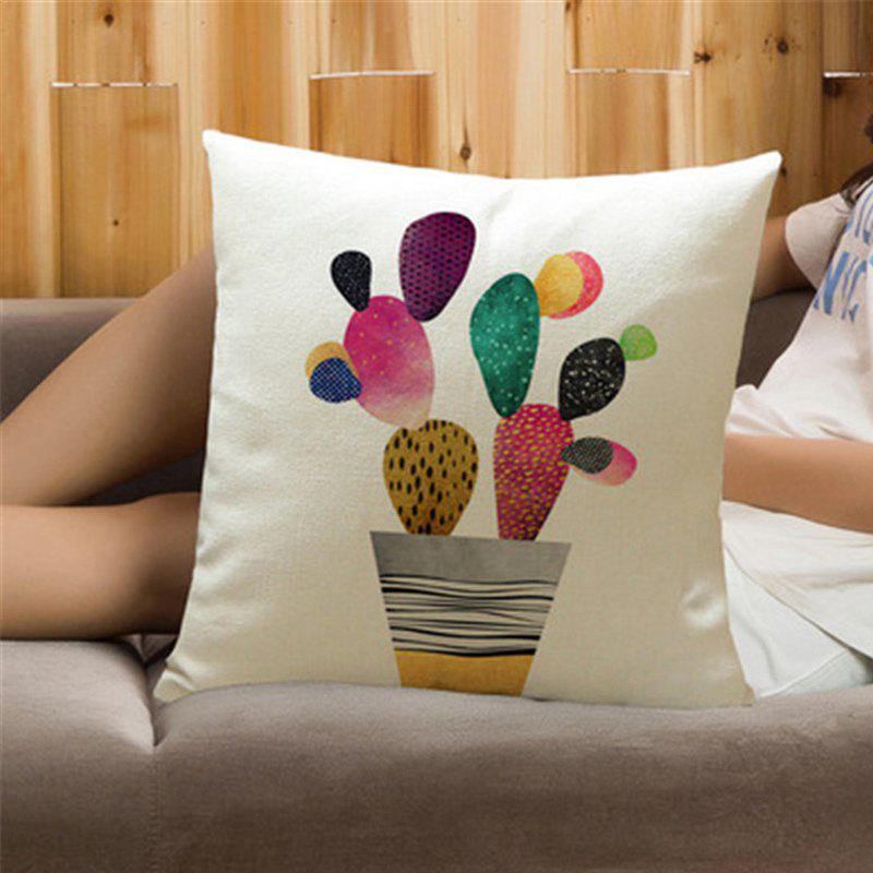 Sale Creative Painted Cactus Plant with Pillow Cover Home Decoration