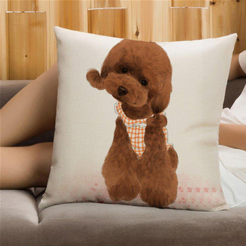 Cheap Creative Cute Pet Dog Flax with Pillowcase Home Decoration