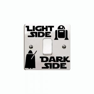 Personalized Wall Decal Dark Side Light Switch Sticker DIY Vinyl Home Decor -