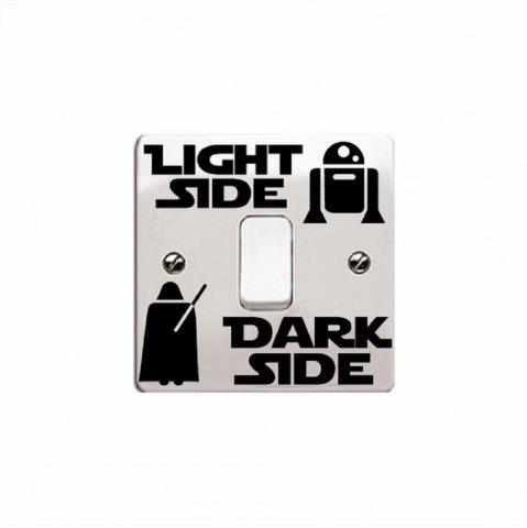 Shop Personalized Wall Decal Dark Side Light Switch Sticker DIY Vinyl Home Decor