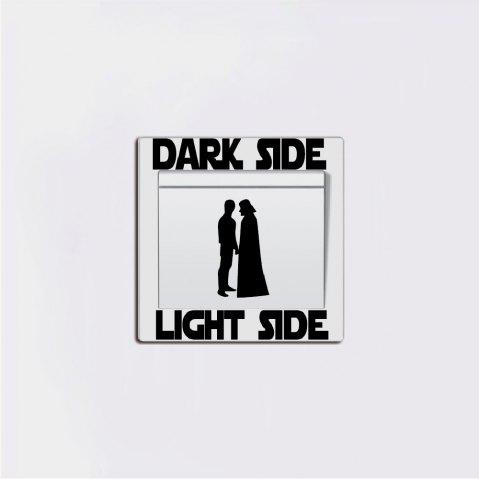 Hot People Silhouette Light Side Switch Sticker Cartoon Vinyl Wall Decal