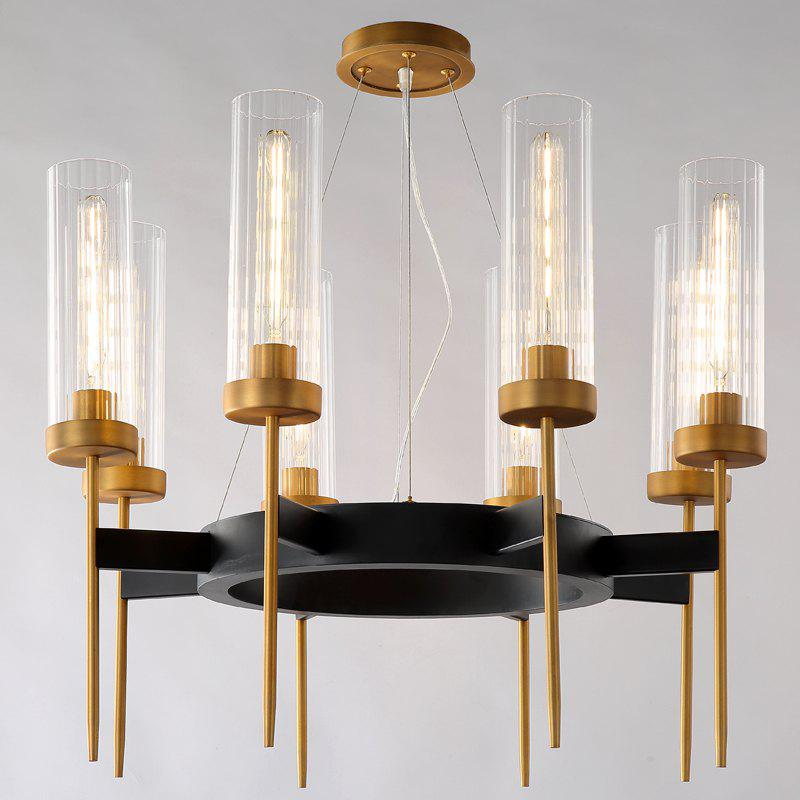 Cheap DJB53 Round 8 Head Creative Living Room Chandelier