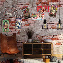 DSU 3D Custom Wall Painting Graffiti Sexy Beauty Brick Wallpaper -