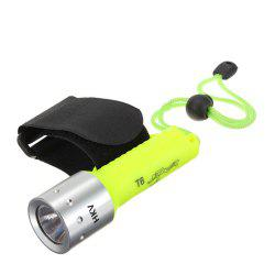 HKV 800 Lumens LED Rechargeable Diving Flashlight -