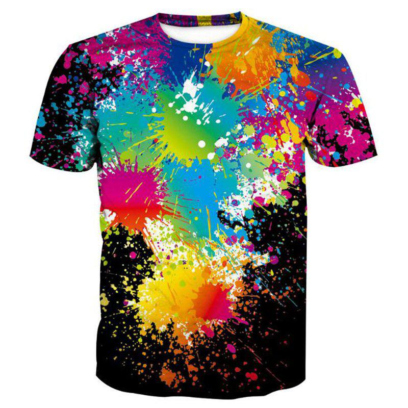 Men's 3D Graffiti Printing Short Sleeve T-shirt
