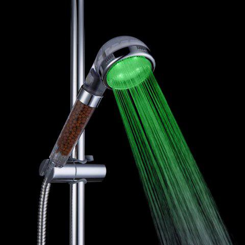 Affordable Glow Light LED Anion Health Care Shower Heads With Temperature Sensor