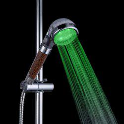 Glow Light LED Anion Health Care Shower Heads With Temperature Sensor -