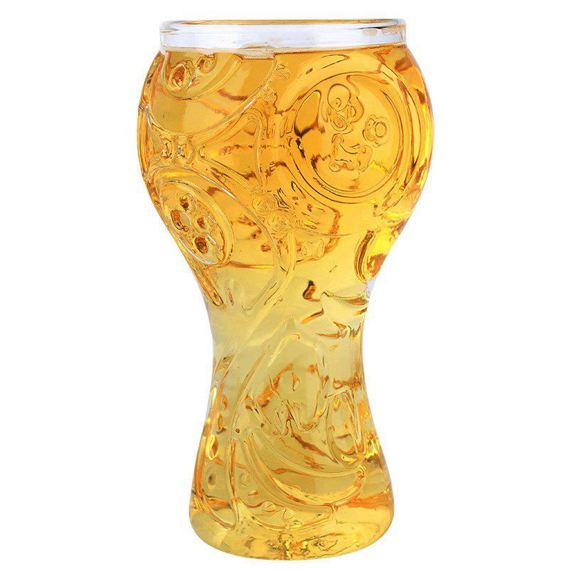 Fancy Transparent Beer Glass Cup High Borosilicate 400ML