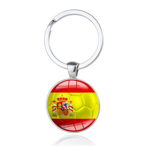 Unique Creative Football Flag Model Keychain Souvenir
