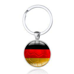 Creative Football Flag Model Keychain Souvenir -