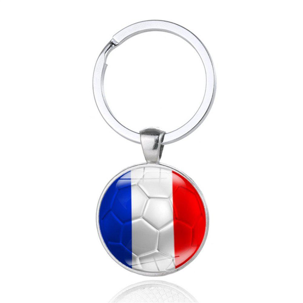 Buy Creative Football Flag Model Keychain Souvenir