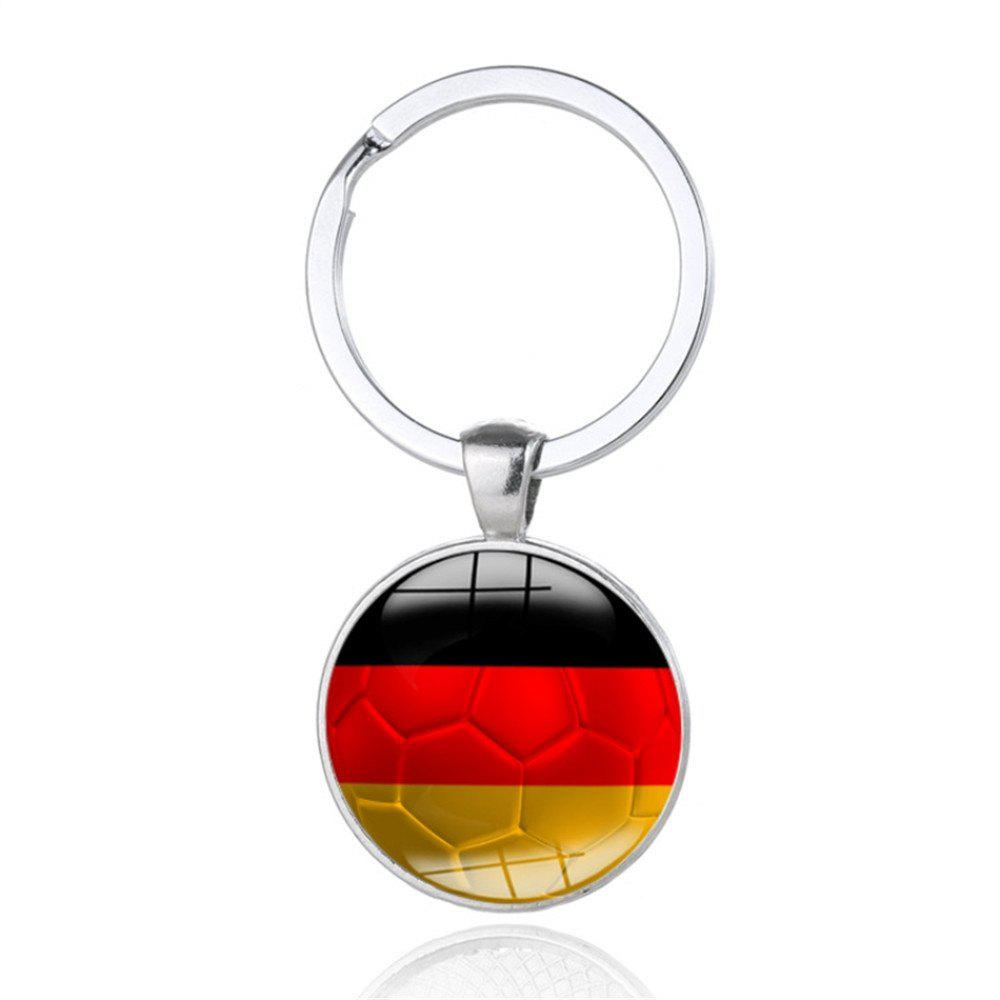 Sale Creative Football Flag Model Keychain Souvenir