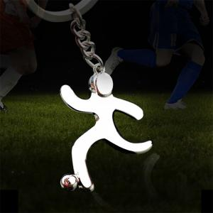 Creative Football Player Model Keychain -