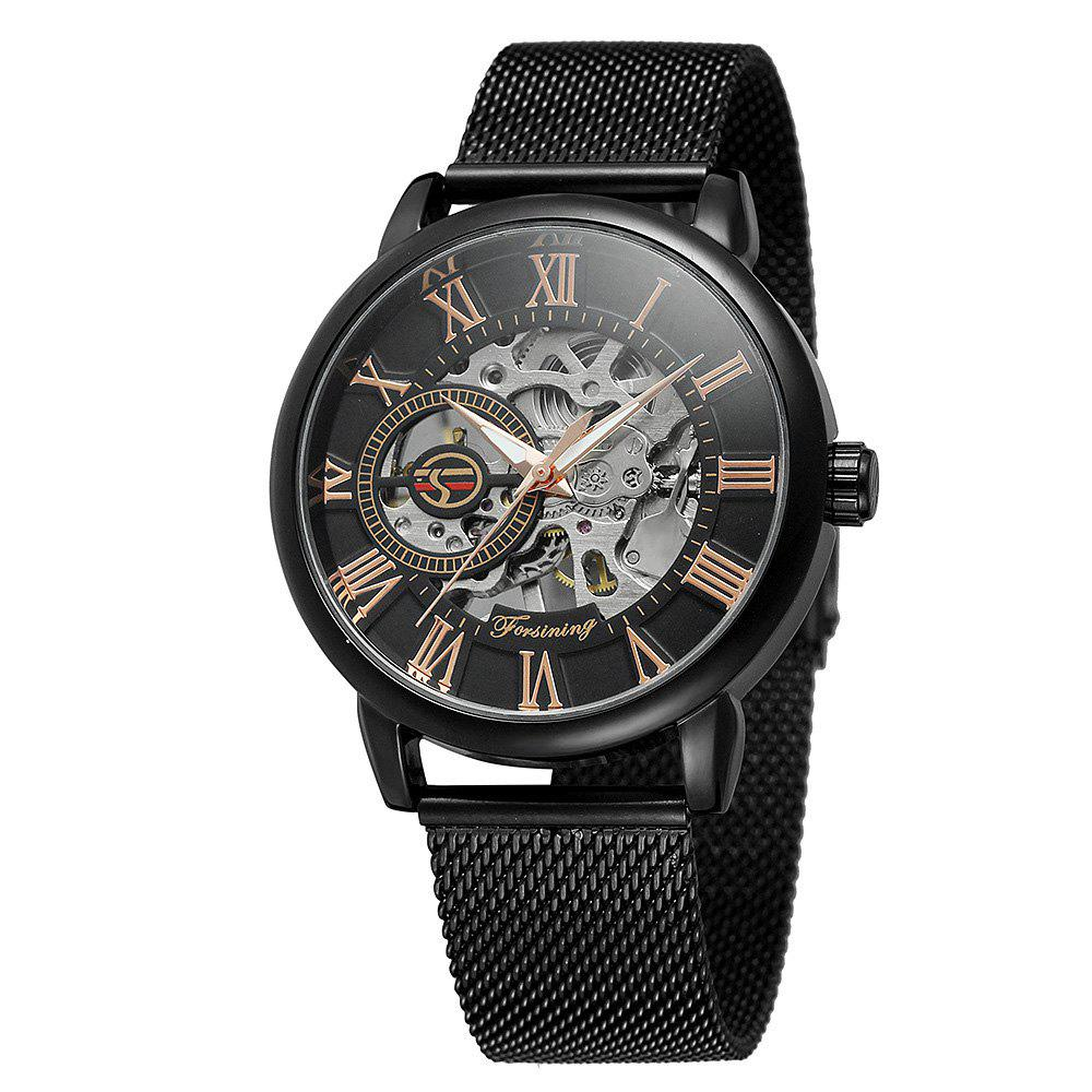 Outfit MGORKINA Men Luxury Skeleton Stainless Steel Military Sport Mechanical Watch