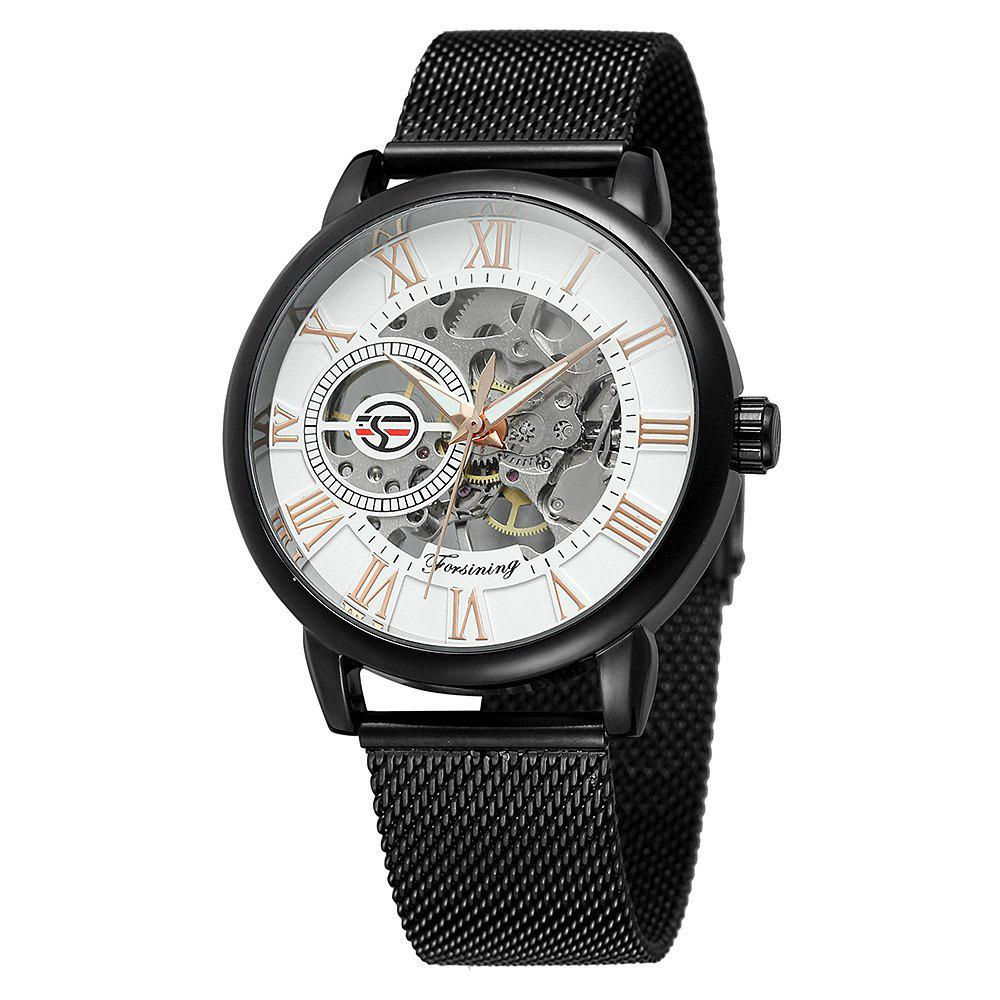 Shop MGORKINA Men Luxury Skeleton Stainless Steel Military Sport Mechanical Watch
