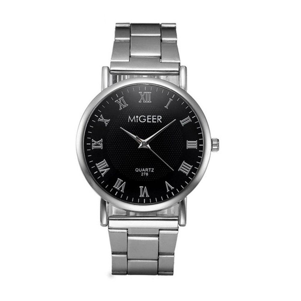 Migeer Fashion luxe affaires chiffres romains robe montre