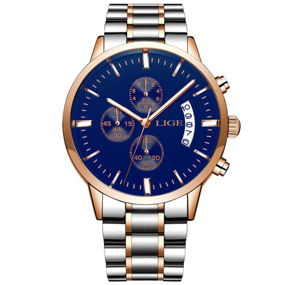 Store LIGE Men Luxury Brand Chronograph Men Sports Waterproof Watch