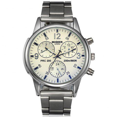 Best Migeer Fashion Men Casual Three Sub Dial Stainless Steel Dress Watch