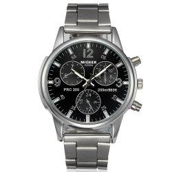 Migeer Fashion Men Casual Three Sub Dial из нержавеющей стали -
