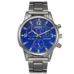 Migeer Fashion Men Casual Three Sub Dial Stainless Steel Dress Watch -