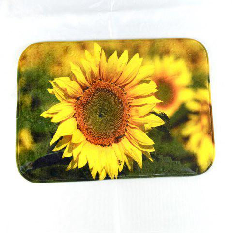 Store Sunflower Super Soft Non-Slip Bath Door Mat Machine Washable Quickly Drying