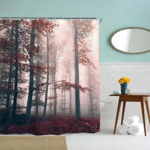 Mysterious Forest Water-Proof Polyester 3D Printing Bathroom Shower Curtain -