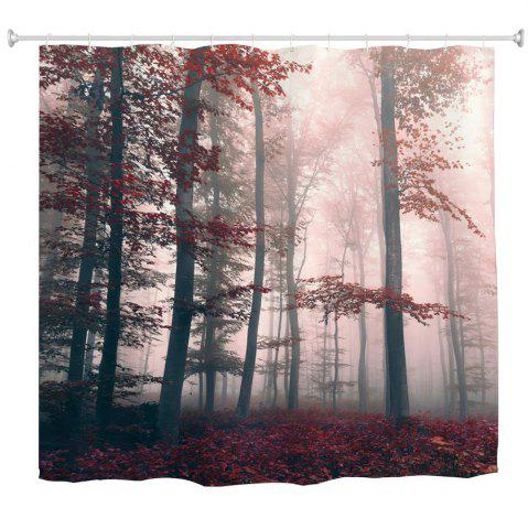 Online Mysterious Forest Water-Proof Polyester 3D Printing Bathroom Shower Curtain