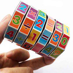 Cylindrical Six-order Rubik Cube Math Early Childhood Educational Toys -