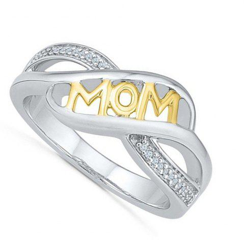 Shops Rhinestone Heart Shaped Mom Separation Ring
