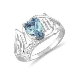 Bague coeur artificiel en diamant -