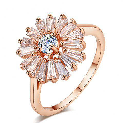Outfits Fashion Chrysanthemum Micro Diamond Ring