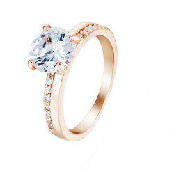 Crystal Micro Artificial Diamond Ring -