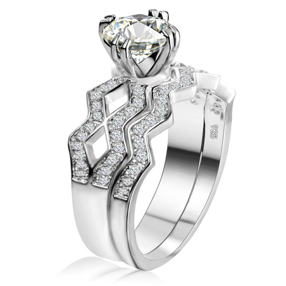 Store Artificial Diamond Couple Ring