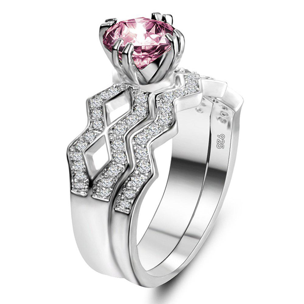 Outfits Artificial Diamond Couple Ring