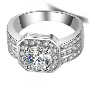 Stylish Minimalist Artificial Diamond Ring -