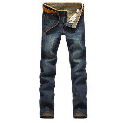 2018 New Men's Vintage Jeans Hommes Straight Slim Pantalons -