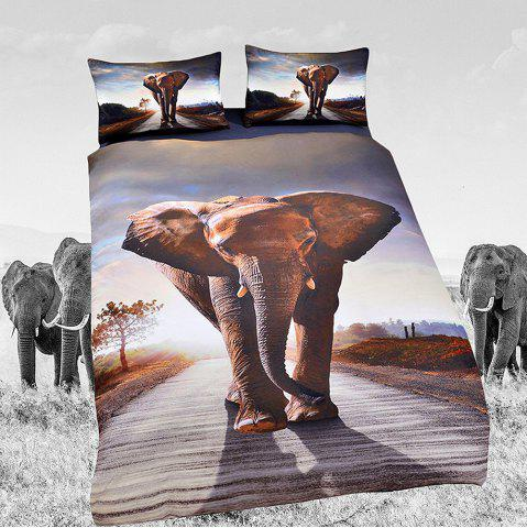 Ensembles de literie Elephant Ensembles de housse de couette Animal Digital Print 3pcs