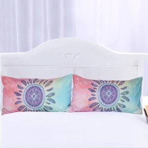 Mandala Bedding Set Feathers Duvet Cover Sets Digital Print 3pcs -