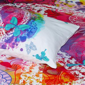 Papillon Literie housse de couette Set Digital Print 3pcs -