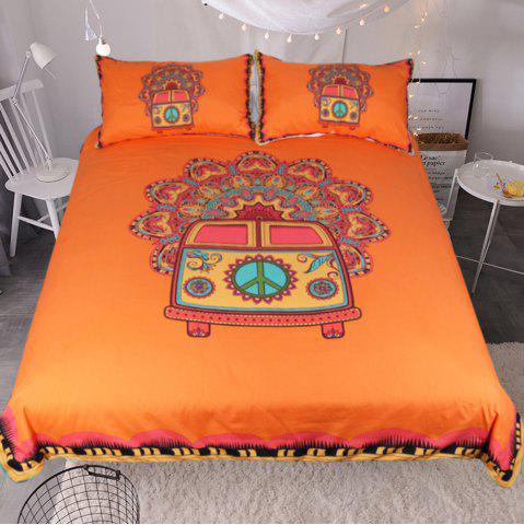 Cheap Hippie Vintage Car Bedding Duvet Cover Set Digital Print 3pcs