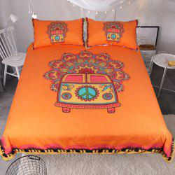 Hippie Vintage Car Bedding Duvet Cover Set Digital Print 3pcs -