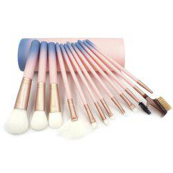 12шт Gradient Color Makeup Brushes с канистрами -